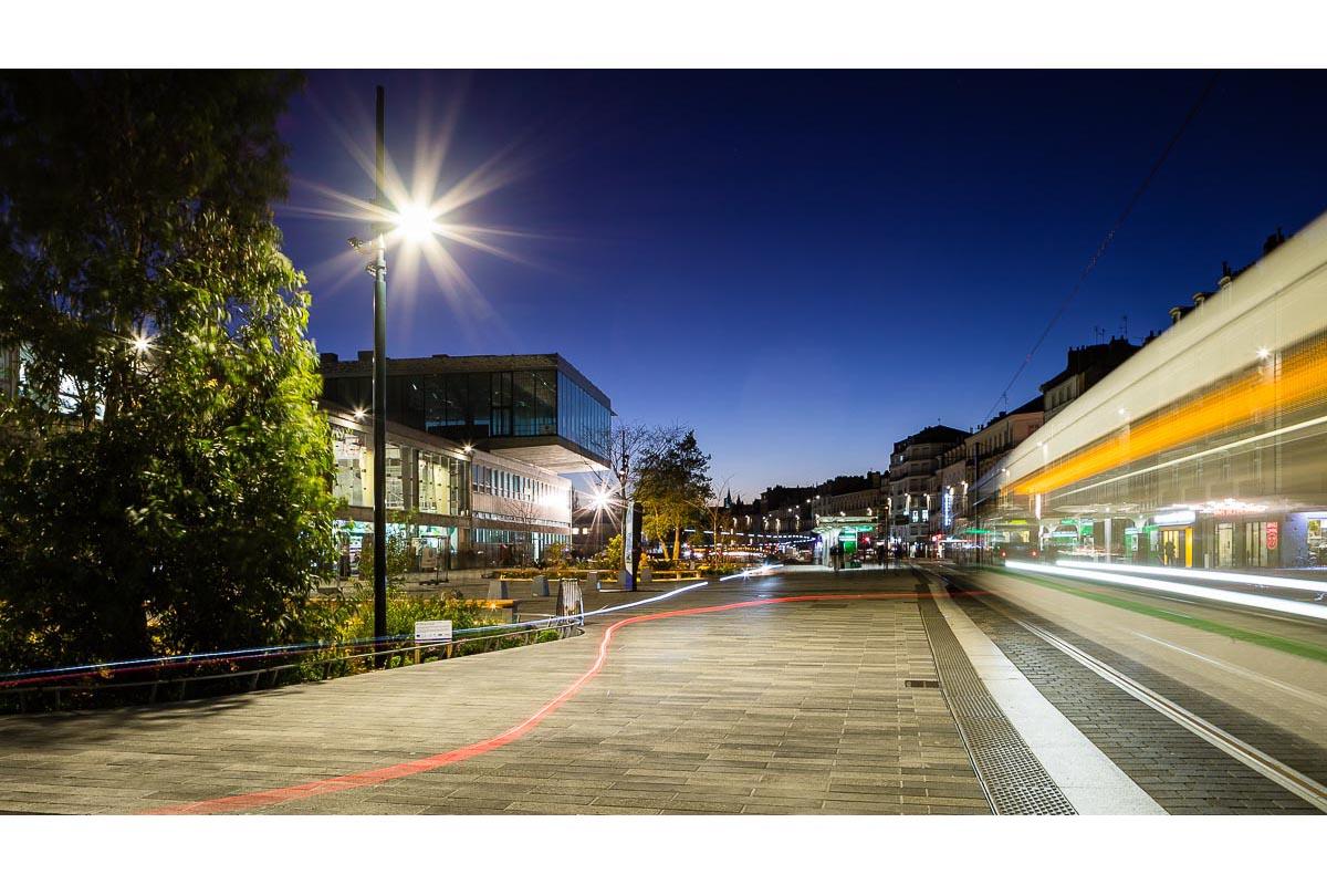Mât éclairage public Nantes Gare TMC Innovation