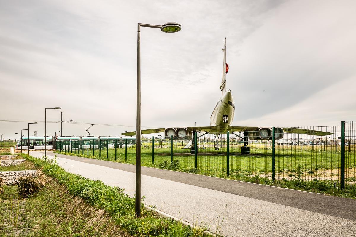 Reportage Avion Tram eclairage public Athis-Mons