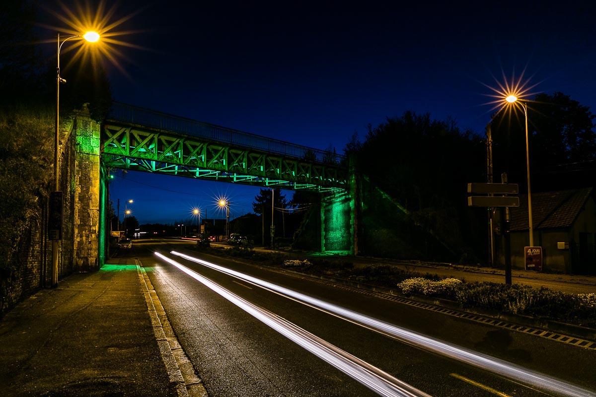 Mise en lumière d'un pont à Evreux